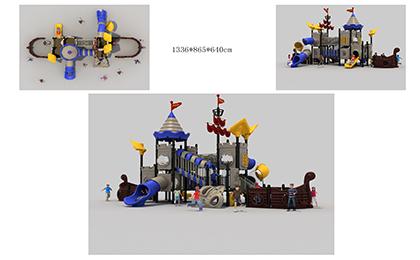 塑料组合滑梯FY093-01