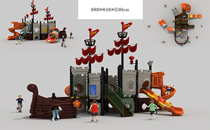 塑料组合滑梯FY094-01