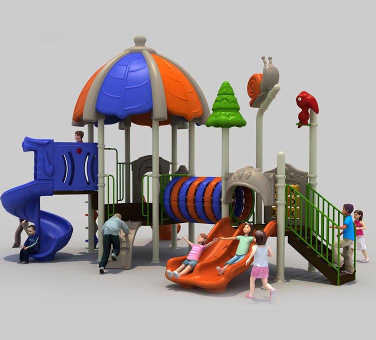 幼儿园室内塑料滑梯