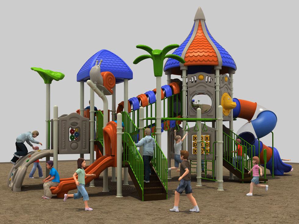 公园大型塑料滑梯