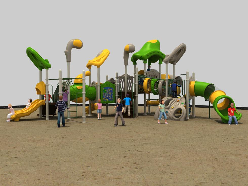大型组合游乐塑料滑梯