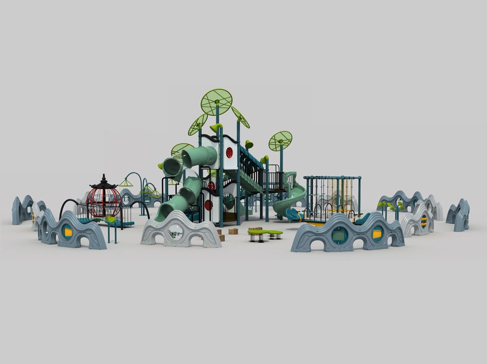 幼儿园室外塑料滑梯