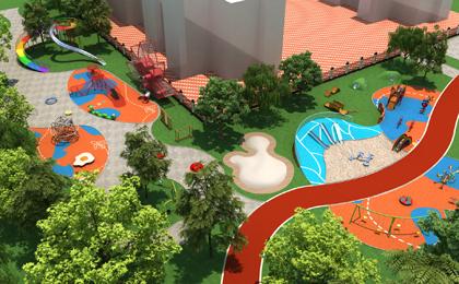 彩虹转转户外儿童公园设计