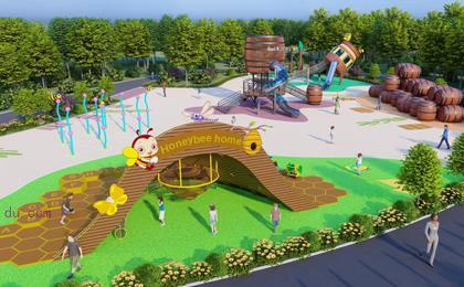 室外游乐园的游乐设施